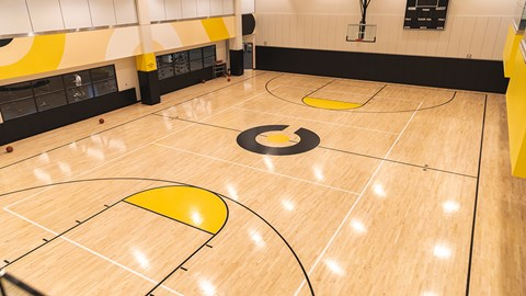 basket ball court at The Malcomson, Detroit, MI