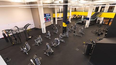 Fitness center at The Malcomson, Detroit, 48226