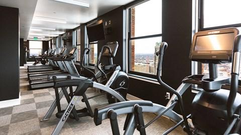 Gym center equipment at Fourteen56, Detroit, MI, 48226