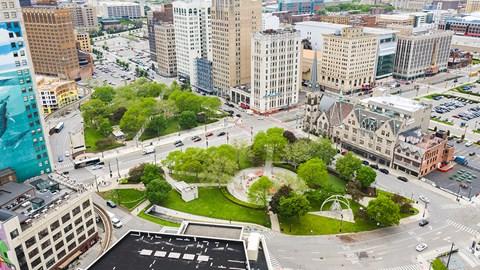 Top floor view at Fourteen56, Detroit, 48226
