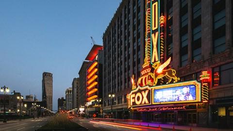 Fox theatre at Fourteen56, Detroit