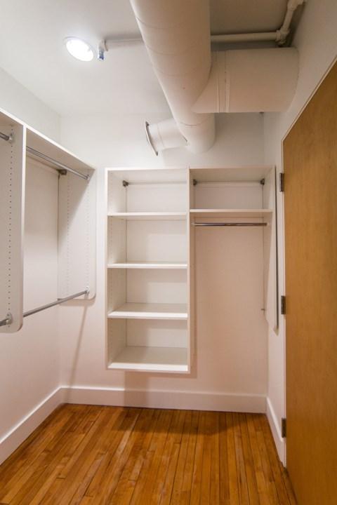 Built-In Shelving In Closet at 1525 Broadway, Detroit, MI