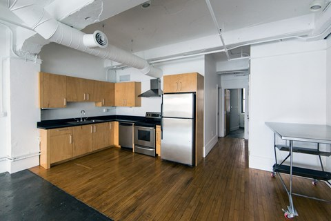 Fully Equipped Kitchens And Dining at 1525 Broadway, Detroit, 48226
