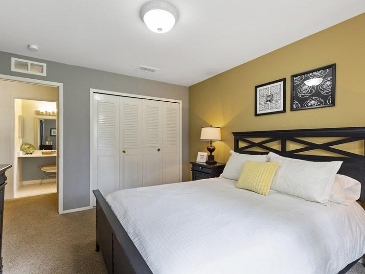 Beautiful Bedroom at Drawbridge Apartments, Harrison Township, Michigan