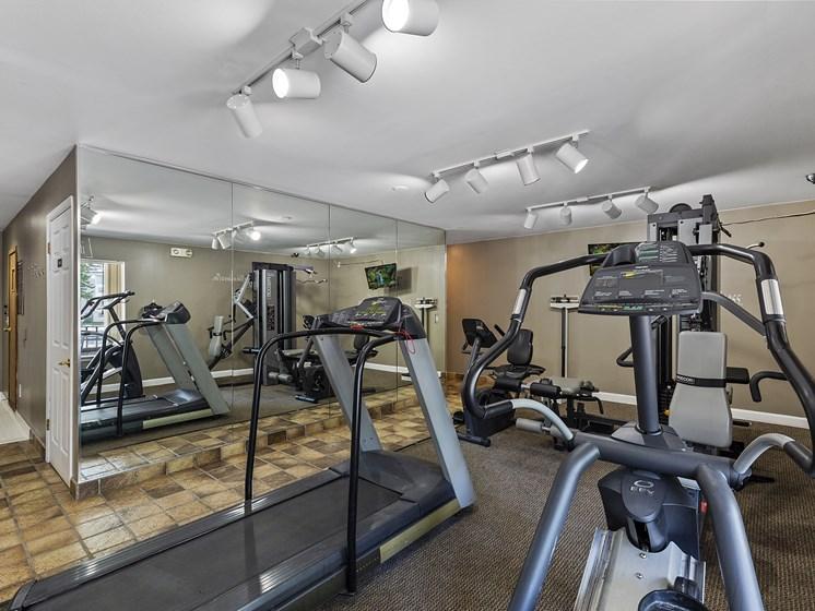 Updated 24-hour Fitness Center at Drawbridge Apartments, Harrison Township, MI