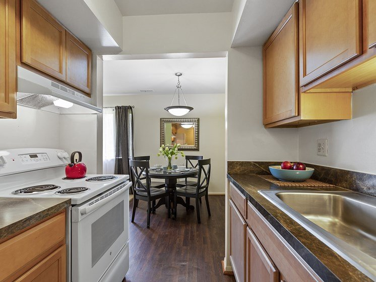 Large Kitchen Area and Living Space at Drawbridge Apartments, Harrison Township