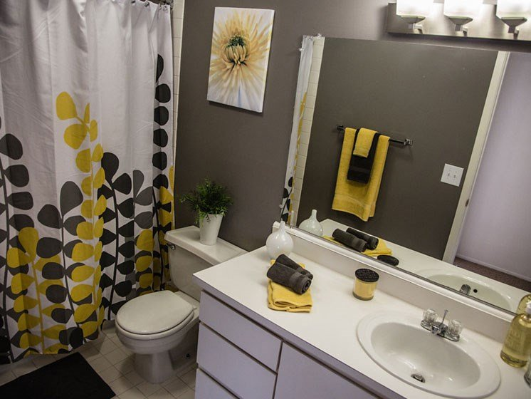 Modern Bathroom at Franklin River Apartments, Southfield, MI