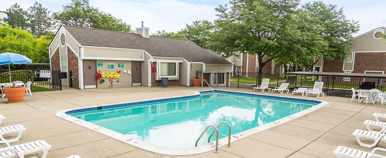 Sparkling Swimming Pool at Park Lane Apartments, Michigan
