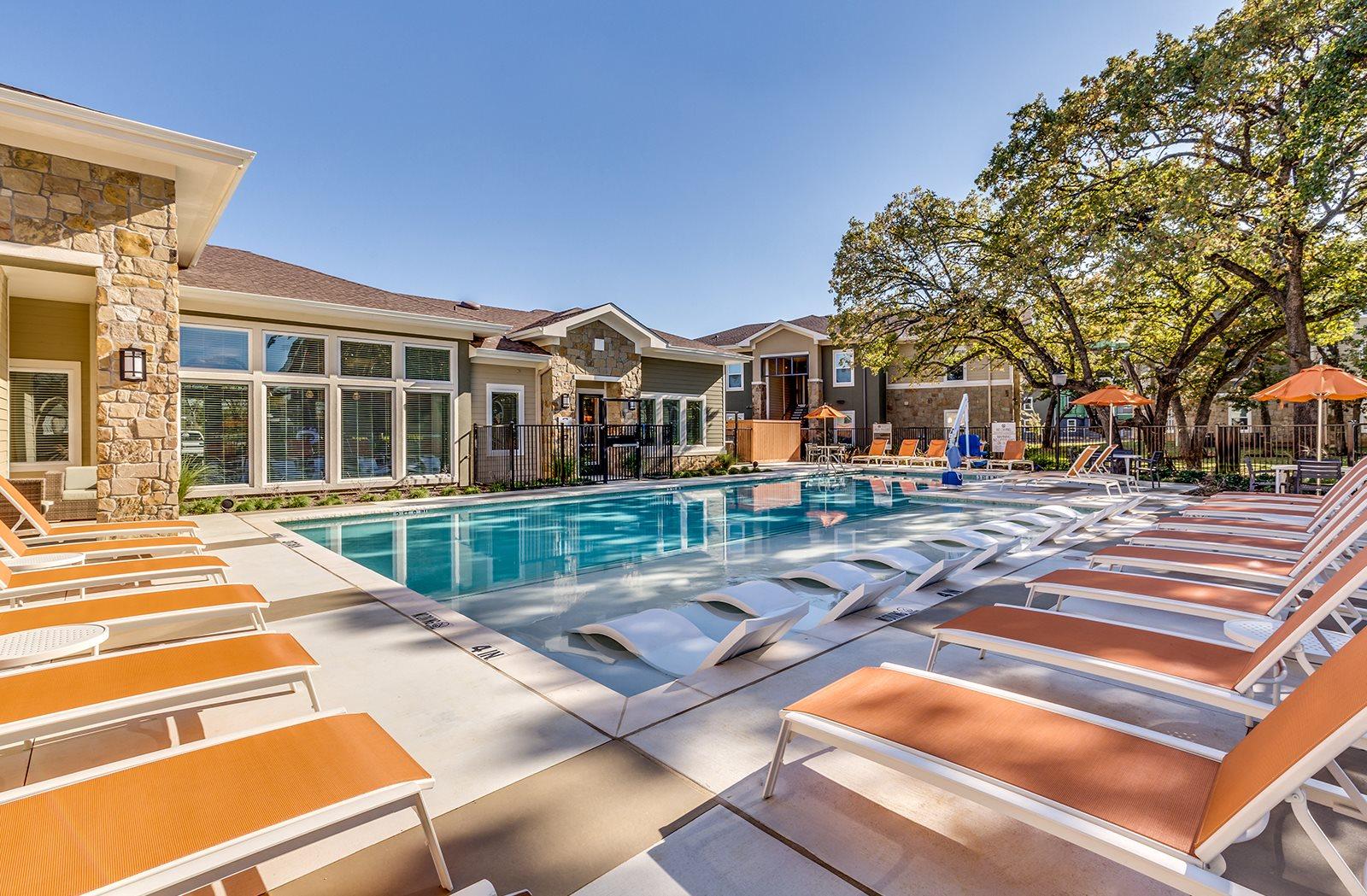 Sparkling Swimming Pool with Grill at The Veranda, Denton, TX