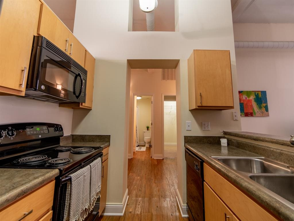 All Electric Kitchen at Buckingham Urban Living, Indianapolis, IN, 46204