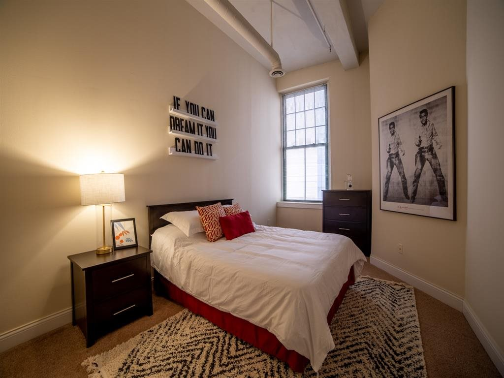 Comfortable Bedroom at Buckingham Urban Living, Indianapolis, IN