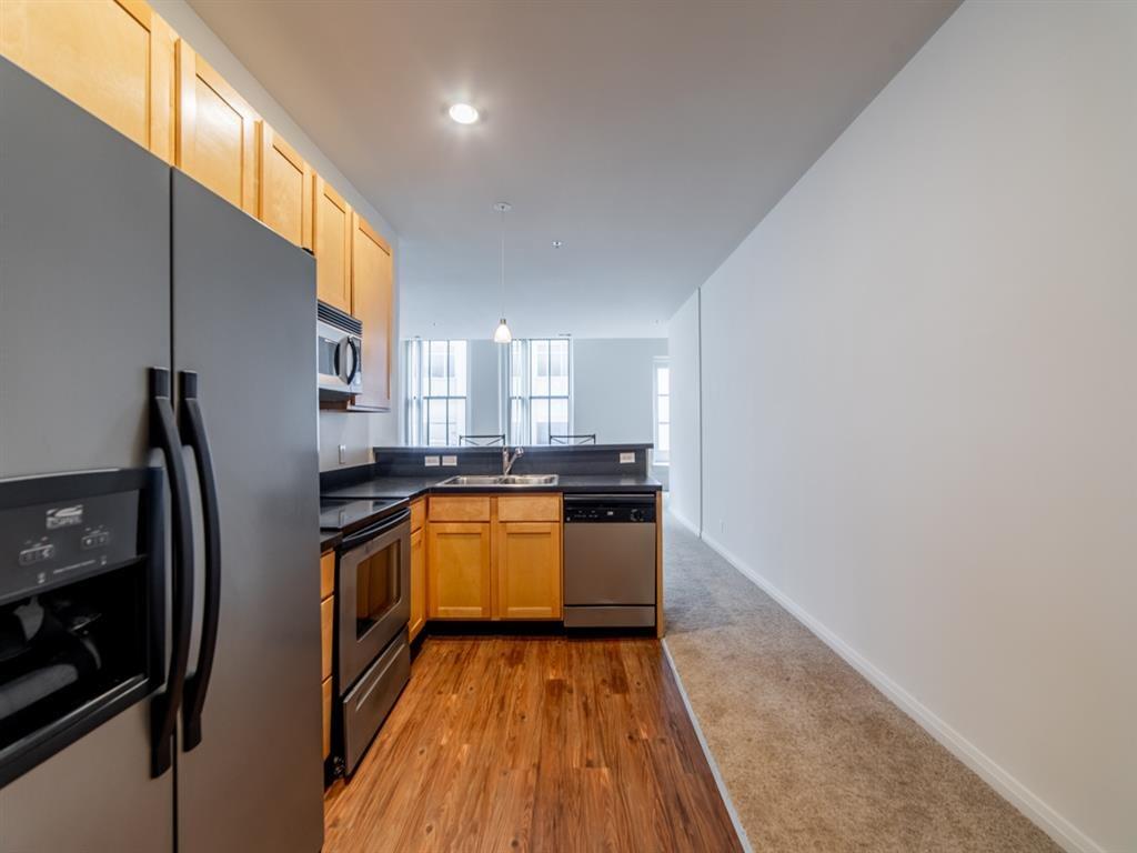 Double door fridge at Buckingham Urban Living, Indianapolis