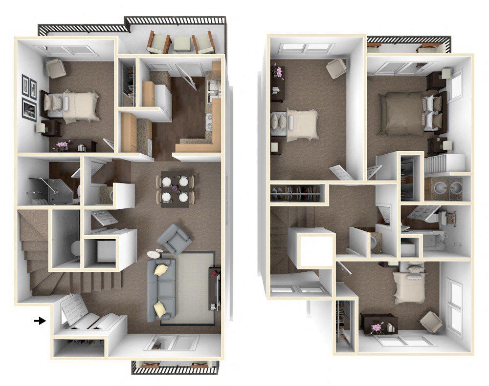 Floor Plans Of Octave Apartments In Davis Ca