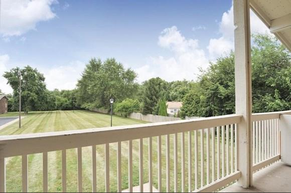 Check out this view from your own private patio at the apartments at Pangea Vineyards in Indianapolis!