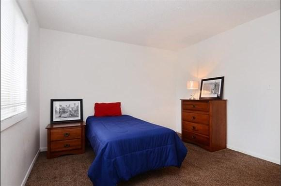 This spacious bedroom could be yours if you rent at Pangea Vineyards in Indianapolis!