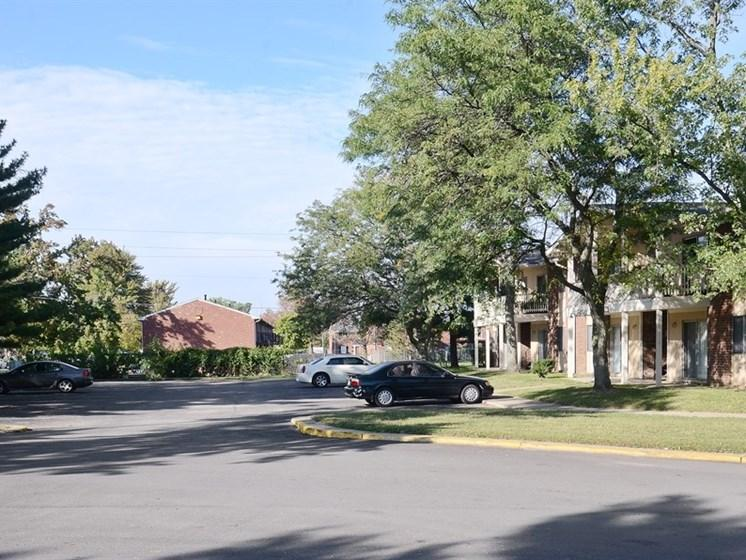 Pangea Vineyards Apartments in Indianapolis include parking available!