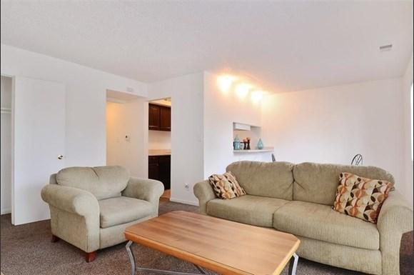 A spacious living room at Pangea Vineyards Apartments in Indianapolis.