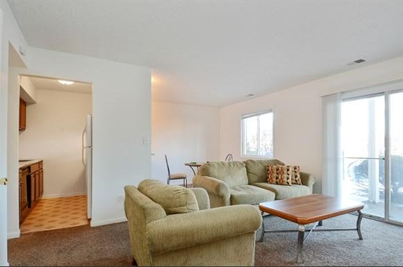 Pangea Vineyards Apartments in Indianapolis feature spacious living rooms.