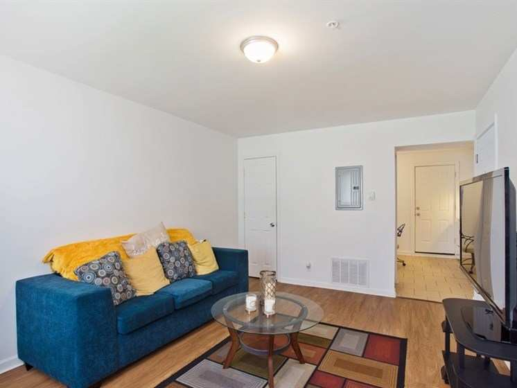 Apartments for rent at Pangea Oaks with hardwood floors.