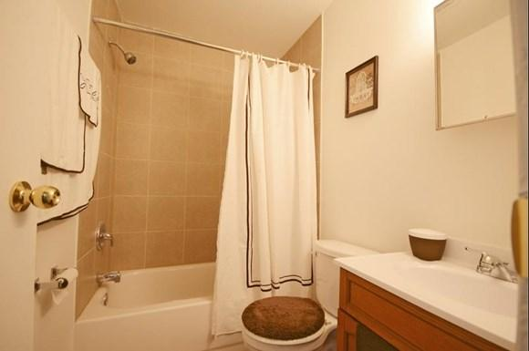 Pangea Parkwest Apartments in Indianapolis may feature updated bathroom finishes.