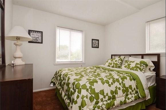 Apartments for rent in Indianapolis at Pangea Parkwest feature spacious bedrooms.