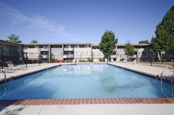 Pangea Parkwest Apartments in Indianapolis has a pool for residents to enjoy!