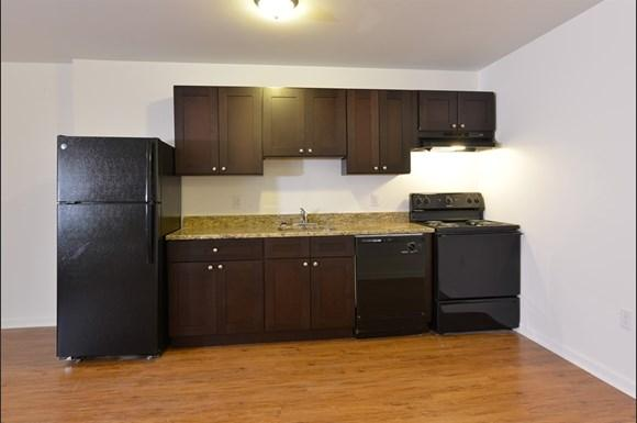 Apartments in Baltimore, Maryland feature updated kitchens.