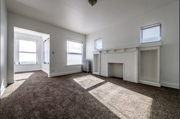 Living Room at 5854 S Michigan Ave Apartments