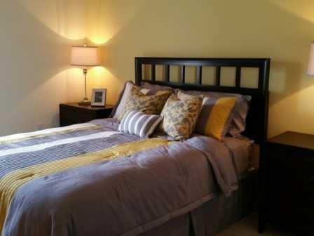 Spacious bedroom at L'Estancia Apartments in Sarasota