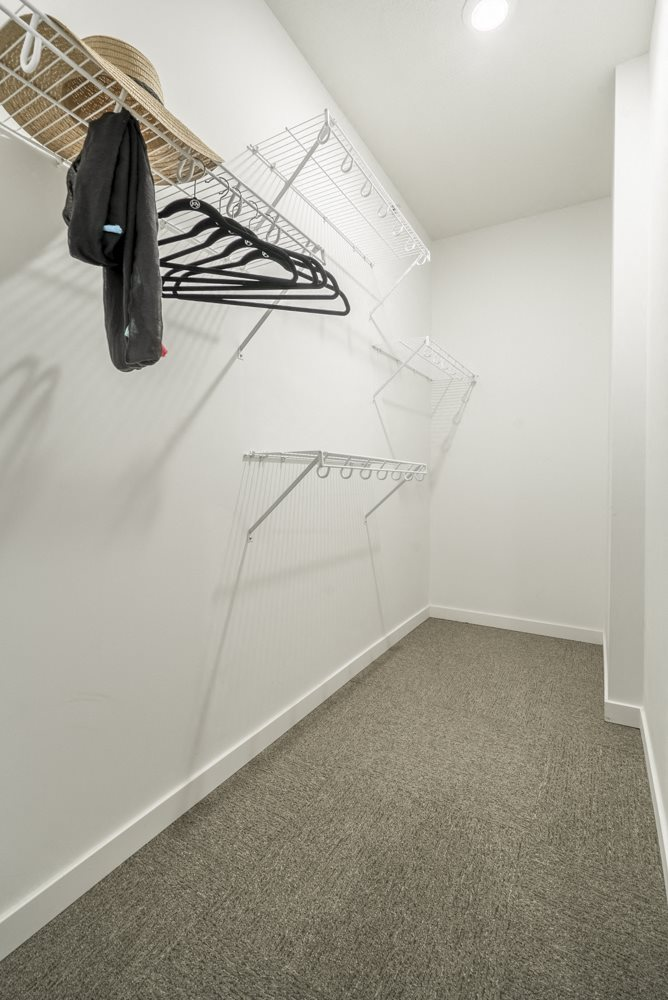 Large walk-in closets included at The Conrad apartments in the Blackstone District in Omaha NE