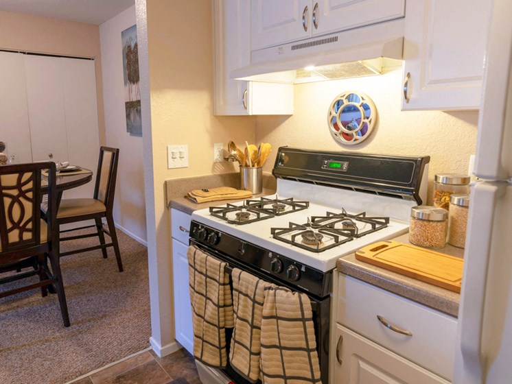 gas stove at Waterford Pines apartments