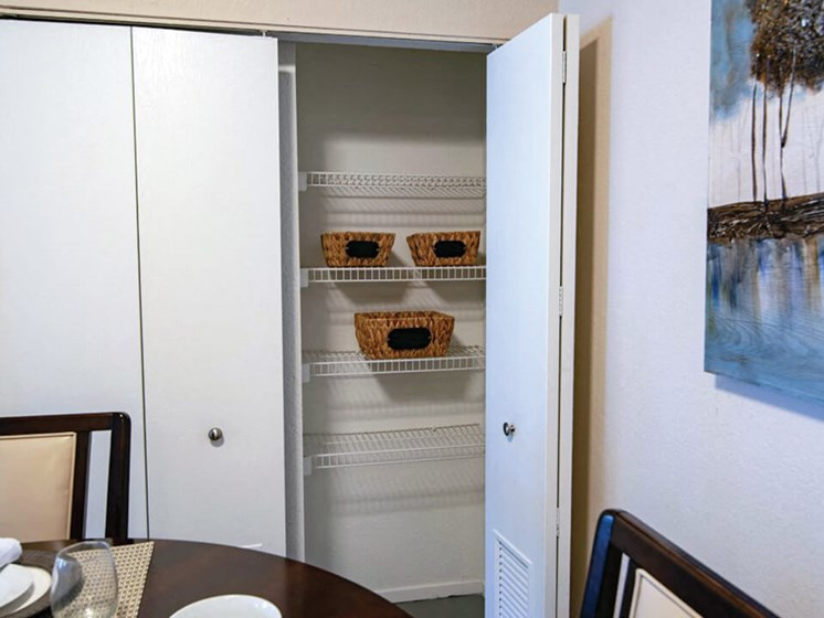 storage space in Waterford apartments