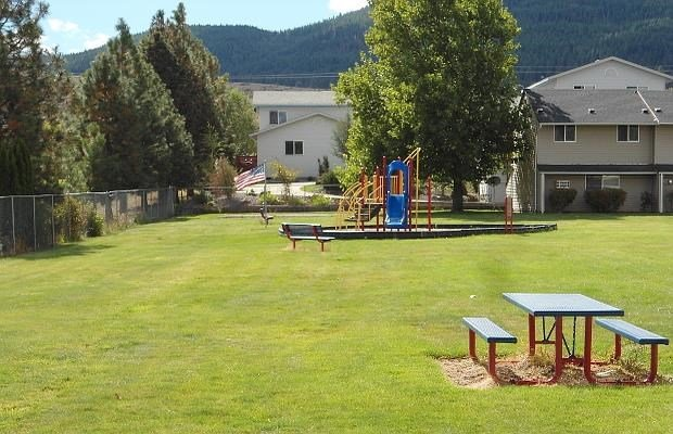 Picnic table and playground equipment