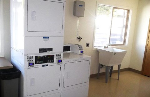 Laundry facility with washer and dryer