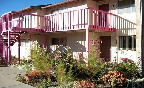 Balcony stairs and landscaping