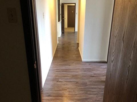 Floor and hallway
