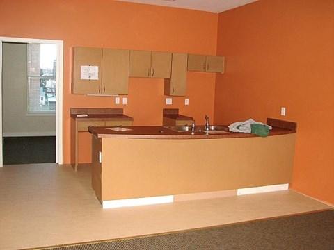 Kitchen without appliances