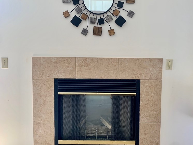 Electric Fireplace at Blueberry Hill Apartments, Rochester, NY