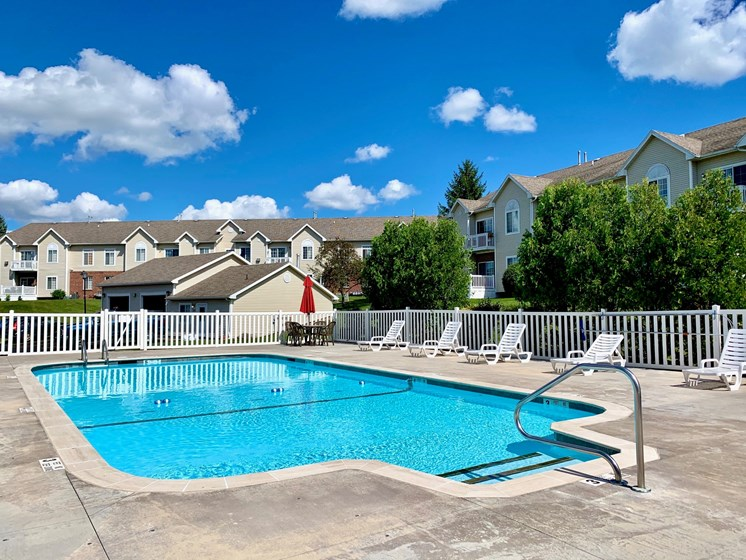 Beautiful Large Swimming Pool at Blueberry Hill Apartments, Rochester, NY