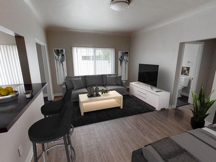 Main-Room at Barton Apartments, Los Angeles, 90029