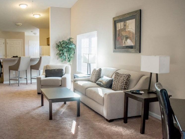 Wadsworth OH Apartment Rentals Redwood Brookridge Living Room To Kitchen