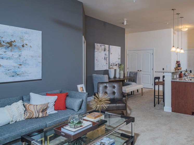 Modern Living Room at Abberly Waterstone Apartment Homes by HHHunt, Virginia
