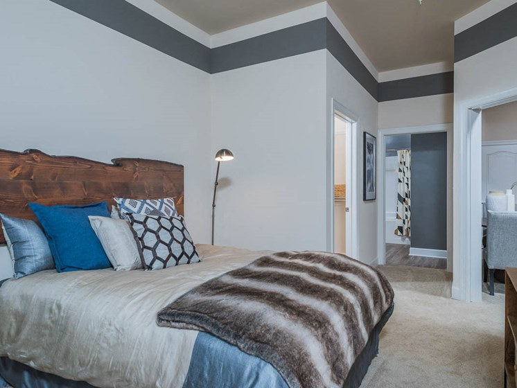 Well Decorated Bedroom at Abberly Waterstone Apartment Homes by HHHunt, Stafford