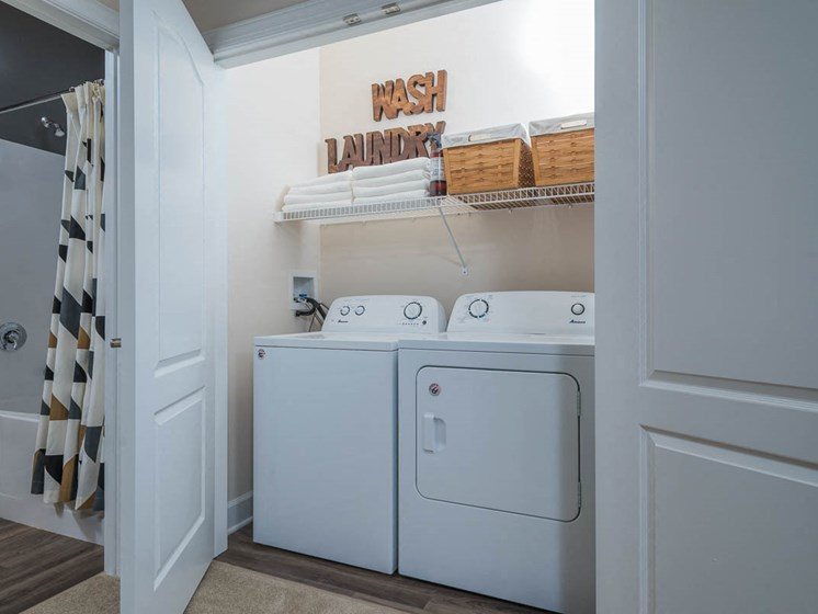 Washer and Dryer In Every Apartment Home at Abberly Waterstone Apartment Homes by HHHunt, Stafford, VA