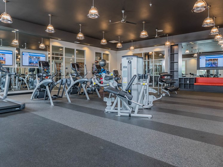 State-of-the-Art Fitness Center at Abberly Waterstone Apartment Homes by HHHunt, Stafford, Virginia