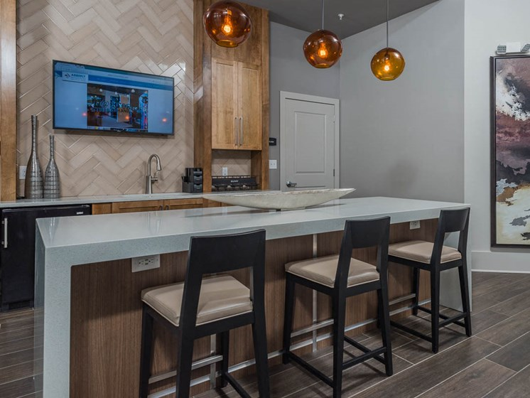 Demo Kitchen For Socials at Abberly Waterstone Apartment Homes by HHHunt, Stafford, 22554