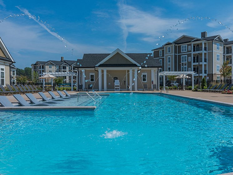 Resort-Style Pool at Abberly Waterstone Apartment Homes by HHHunt, Stafford, Virginia