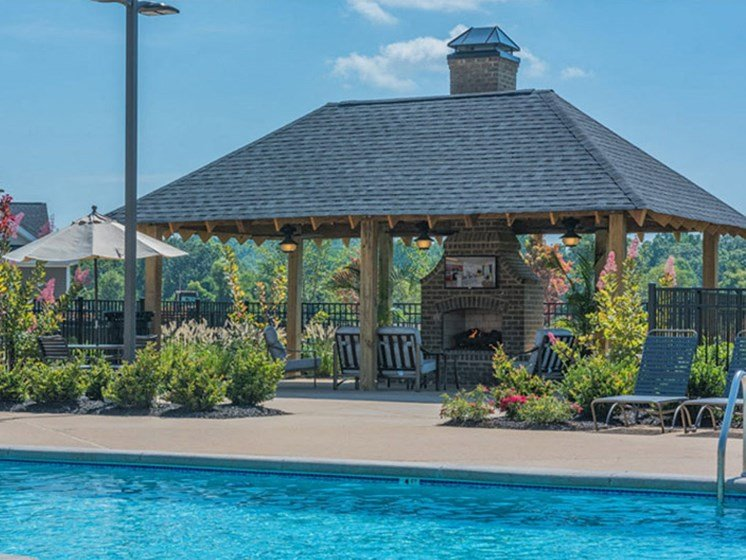 Swimming Pool With Cabana at Abberly Waterstone Apartment Homes by HHHunt, Stafford, VA