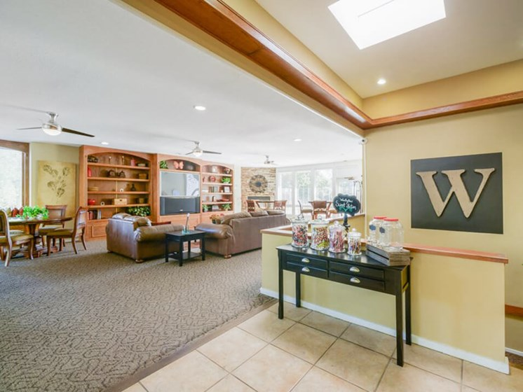 apartment clubhouse at Woodhollow Apartments