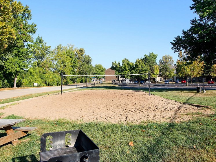 Volleyball Court at apartment community